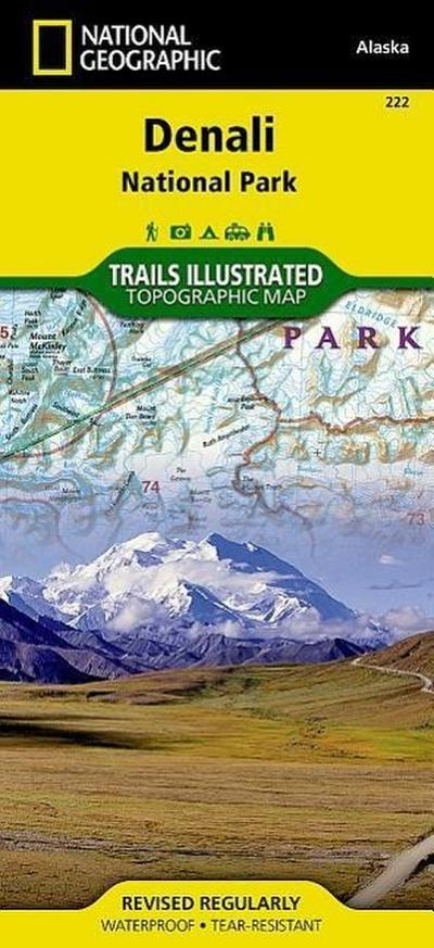 Denali National Park and Preserve - National Geographic Maps - Trails Illust