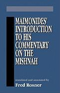Maimonides Introduction to His