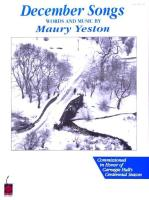 Maury Yeston - December Songs: Voice and Piano