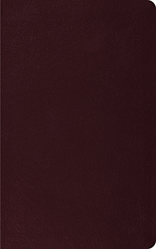 ESV Thinline Bible, Premium Bonded Leather, Burgundy, Red Letter Text - ESV Bibles by Crossway