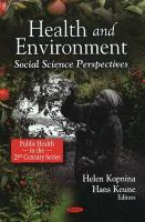 Health and Environment: Social Science Perspectives