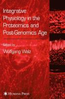 Integrative Physiology in the Proteomics and Post-Genomics Age
