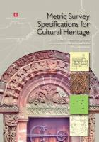 Metric Survey Specifications for Cultural Heritage, Second Edition