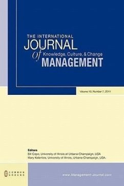 The International Journal of Knowledge, Culture and Change Management: Volume 10, Number 7