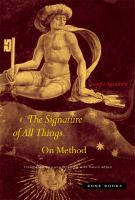 The Signature of All Things: On Method