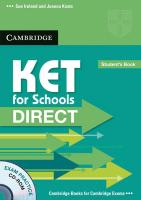 KET for Schools Direct. Student's Book with CD-ROM