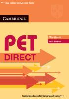 PET Direct. Workbook with answers