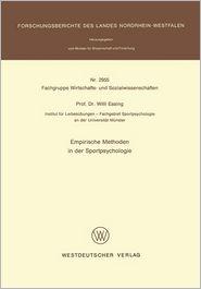 Empirische Methoden in der Sportpsychologie (Forschungsberichte des Landes Nordrhein-Westfalen)