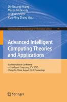 Advanced Intelligent Computing. Theories and Applications