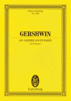 An American In Paris for Orchestra. Miniature Score