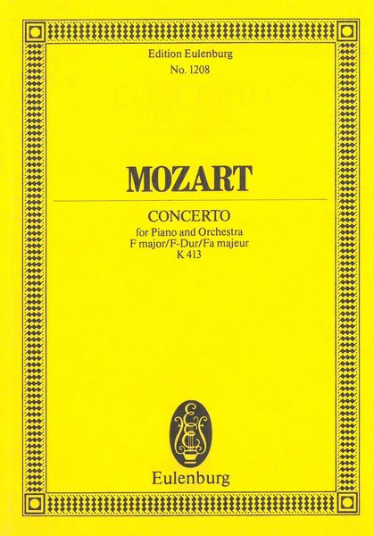 Concerto No. 11 In F Major, K. 413 : For Piano & Orchestra. - Mozart, Wolfgang Amadeus,