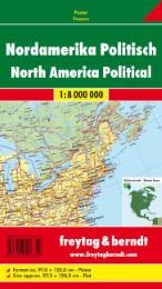 Nordamerika physisch-politisch 1 : 8 000 000 Planokarte