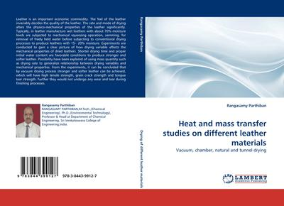 Heat and mass transfer studies on different leather materials - Rangasamy Parthiban