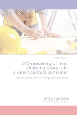 CFD modeling of heat charging process in a direct-contact container