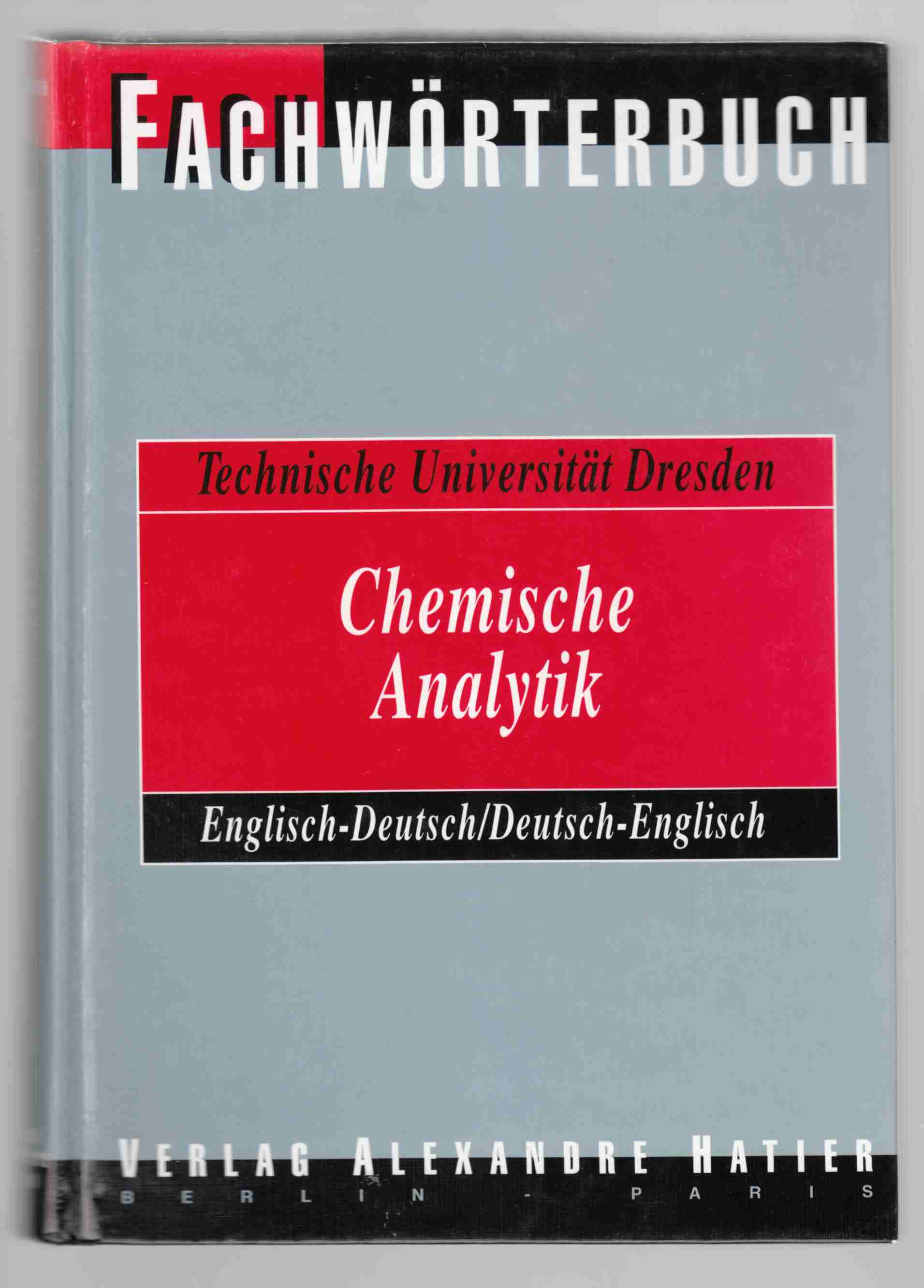 Dictionary Analytical Chemistry: English-German