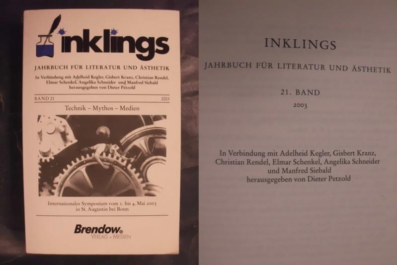 inklings - Jahrbuch für Literatur und Ästhetik - 21. Band/Bd., 2003