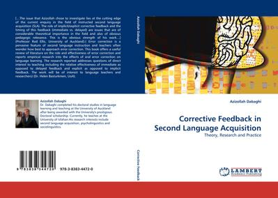 Corrective Feedback in Second Language Acquisition : Theory, Research and Practice - Azizollah Dabaghi