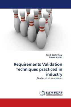 Requirements Validation Techniques practiced in industry - Saqi, Saqib Bashir / Ahmed, Sheraz