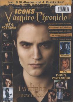 Icons Vampire Chronicle, limitiertes Bundle (2 Ausgaben): Postermag 2 + Twilight: New Moon inkl. 15 XL-Poster von Twilight, Robert Pattinson u.v.m. + 15 XL-Poster, Sticker, Türanhänger