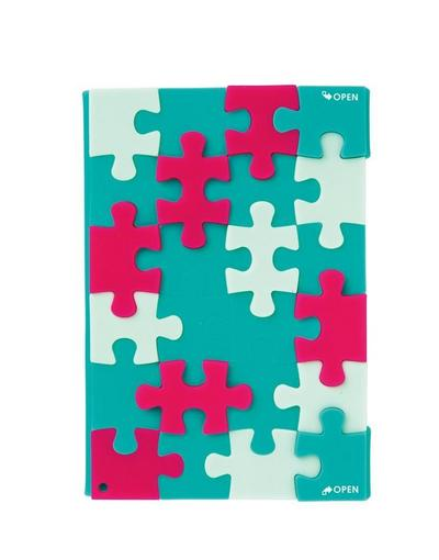 PUZZLE. Emerald green Notebook A6