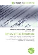 History of Tax Resistance