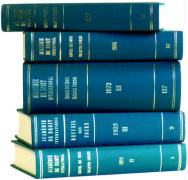Recueil Des Cours, Collected Courses, Volume 105 (1962-I)
