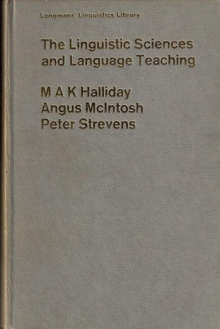 The Linguistic Sciences and Language Teaching