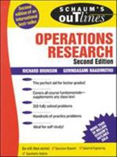 Schaum's Outline of Operations Research - Bronson, Richard / Naadimuthu, Covindasami / Naadimuthu, Govindasami