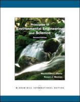 Principles of Environmental Engineering and Science. by MacKenzie L. Davis and Susan J. Masten