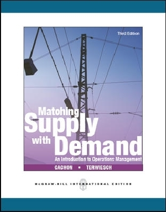 Matching Supply with Demand: An Introduction to Operations Management als Buch von Gerard Cachon, Christian Terwiesch - McGraw-Hill Education Ltd