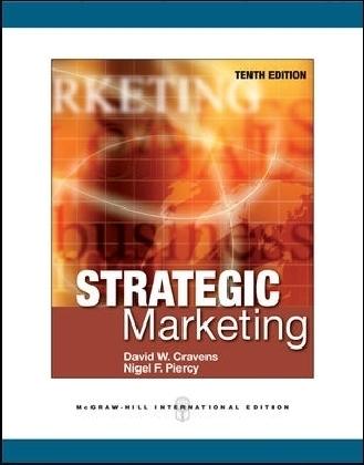 McGraw-Hill International Editions: Strategic Marketing - International Edition - Cravens, David W. / Piercy, Nigel F.