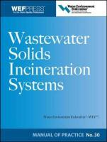 Wastewater Solids Incineration Systems MOP 30 (Water Resources and Environmental Engineering Series)