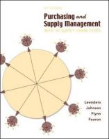 Purchasing and Supply Management: With 50 Supply Chain Cases