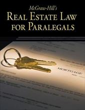 McGraw-Hill's Real Estate Law for Paralegals - Schaffer, Lisa / Wietecki, Andrew