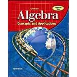 Algebra, Volume 2: Concepts and Applications - Mcgraw-Hill
