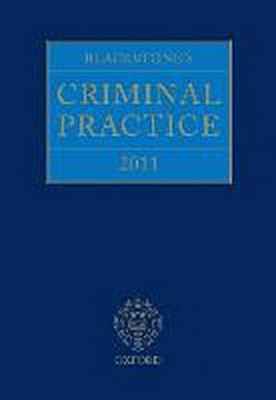 Blackstone's Criminal Practice 2011 (Book & CD-ROM pack with all supplements) - Professor David Ormerod