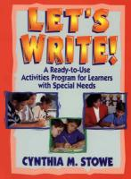 Let's Write!: A Ready-To-Use Activities for Learners with Special Needs