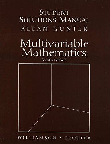 Students Solutions Manual for Multivariable Mathematics