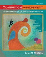 Classroom Assessment: Principles and Practice for Effective Standards-Based Instruction
