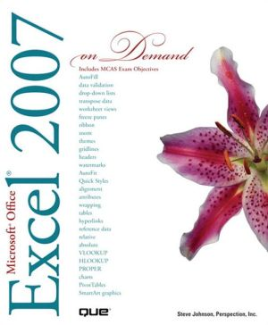 Microsoft Office Excel 2007 On Demand (Adobe Reader) - Perspection Inc., Steve Johnson