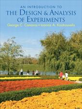 An Introduction to the Design & Analysis of Experiments - Canavos, George C. / Koutrouvelis, Ioannis A.