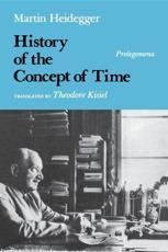 History of the Concept of Time - Martin Heidegger