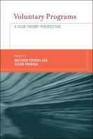 Voluntary Programs: A Club Theory Perspective