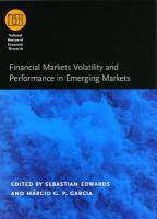 Financial Markets Volatility and Performance in Emerging Markets