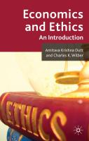 Economics and Ethics: An Introduction