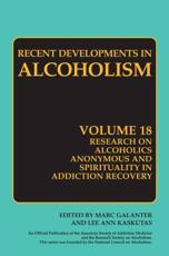 Research on Alcoholics Anonymous and Spirituality in Addiction - Marc Galanter (editor), Lee Anne Kaskutas (editor)