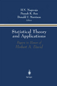 Statistical Theory and Applications - H. N. Nagaraja; P. Sen; D.P. Morrison