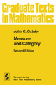 Measure and Category - John C. Oxtoby