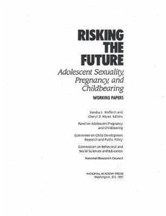 Risking the Future: Adolescent Sexuality, Pregnancy, and Childbearing, Volume II Working Papers Only - Panel on Adolescent Pregnancy and Childb Committee on Child Development Research National Research Council