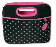 Pink Polka-Dot Carrier with Clutch Handles